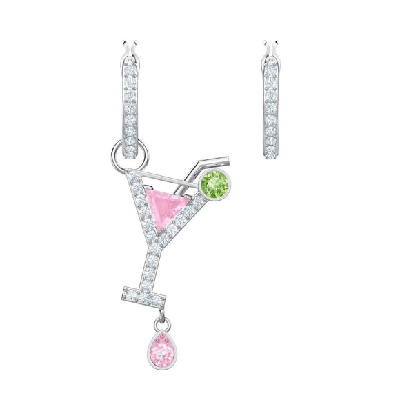 Swarovski No Regrets Cocktail Multi-Colored Rhodium Plating Pierced Earrings-Seven Season