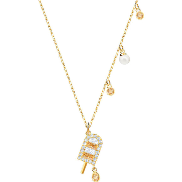 Swarovski No Regrets Ice Cream Multi-Colored Gold Plating Pendant Necklace-Seven Season
