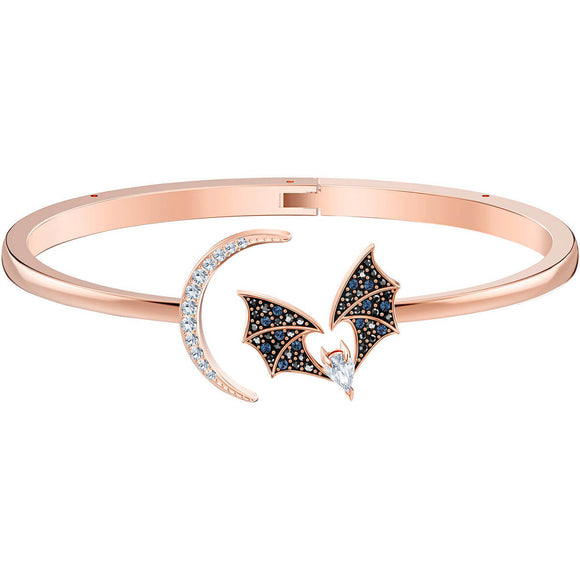 Swarovski Prosperity Multi-Colored Rose-Gold Tone Plated Bangle-Seven Season