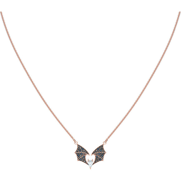 Swarovski Prosperity Multi-Colored Rose-Gold Tone Plated Necklace-Seven Season