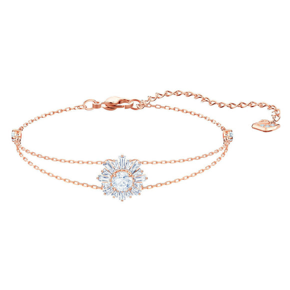 Swarovski Sunshine Medium White Rose Gold Plating Bracelet-Seven Season