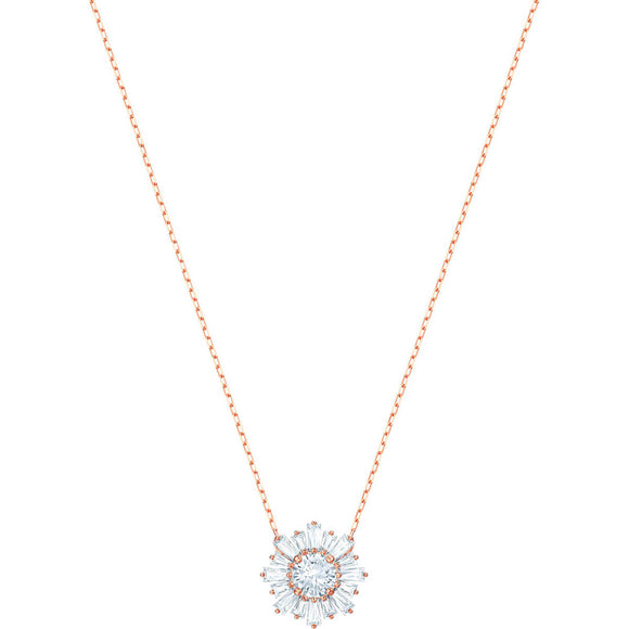 Swarovski Sunshine Medium White Rose Gold Plating Pendant Necklace-Seven Season