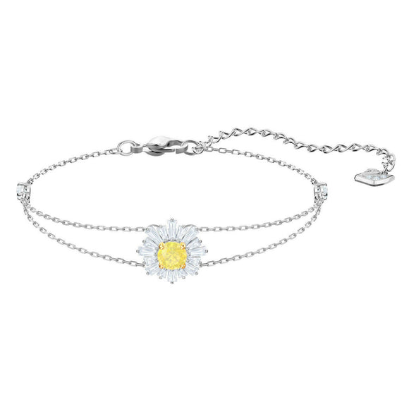 Swarovski Sunshine Medium Yellow Rhodium Plating Bracelet-Seven Season