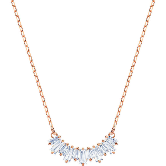 Swarovski Sunshine White Rose Gold Plating Necklace-Seven Season