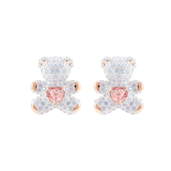 Swarovski Teddy Multi-Colored Rose Gold-Plating Pierced Earring -Seven Season