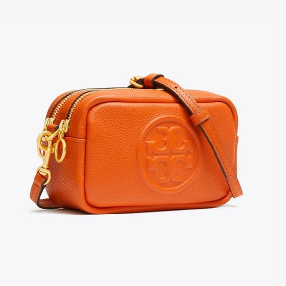 Tory Burch Perry Bombé Mini Orange Crossbody Bag-Seven Season