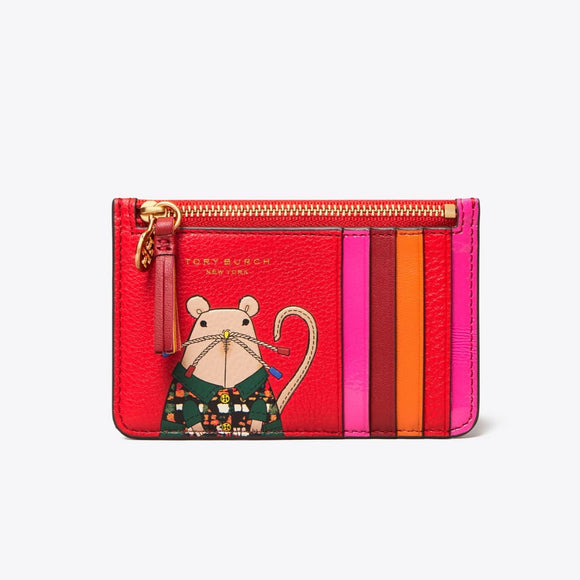 Tory Burch Rita the Rat Top-Zip Card Case-Seven Season