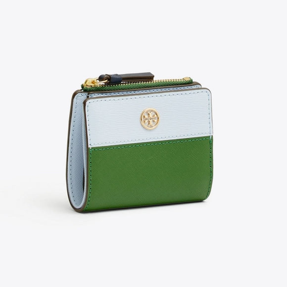 Tory Burch Robinson Color-Block Arugula and Luna Mini Wallet-Seven Season