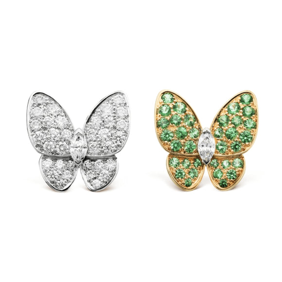 Van Cleef & Arpels Enhanced Two Butterfly Stud Earrings-Seven Season