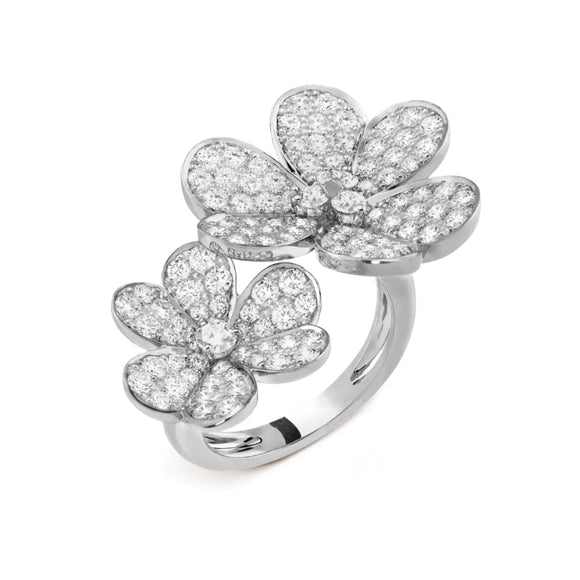 Van Cleef & Arpels Frivole Clover Between the Finger White Gold-Plated Ring-Seven Season