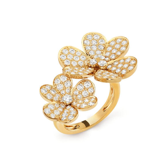 Van Cleef & Arpels Frivole Clover Between the Finger Yellow Gold-Plated Ring-Seven Season