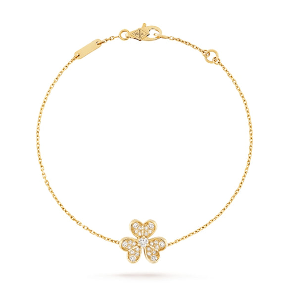 Van Cleef & Arpels Frivole Clover Yellow Gold-Plated Chain Bracelet-Seven Season