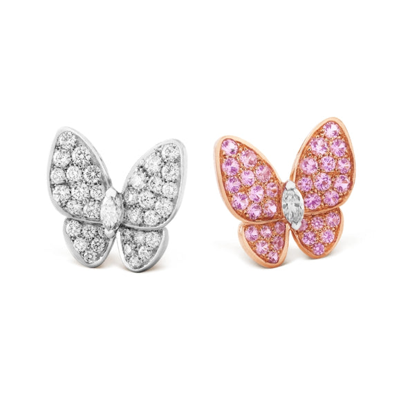 Van Cleef & Arpels Soaring Two Butterfly Stud Earrings-Seven Season