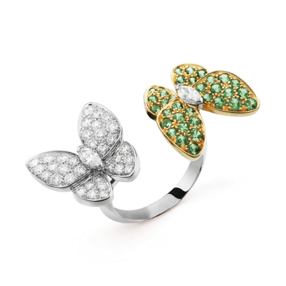 Van Cleef & Arpels Two-Tone Double Butterfly Between the Finger Ring-Seven Season