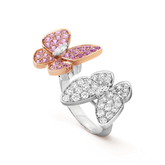 Van Cleef & Arpels Two-Tone Two Butterflies Dance Across the Finger Ring-Seven Season