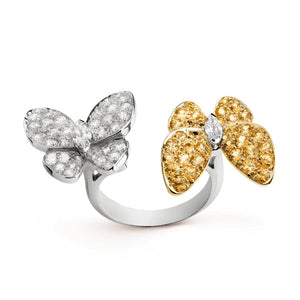 Van Cleef & Arpels Two Butterfly Between the Finger Diamond Accent Ring-Seven Season