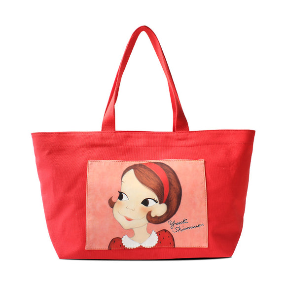 Youk Shim Won Cute Ria Medium Red Tote Bag-Seven Season