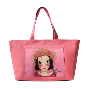Youk Shim Won Gia Medium Pink Tote Bag-Seven Season