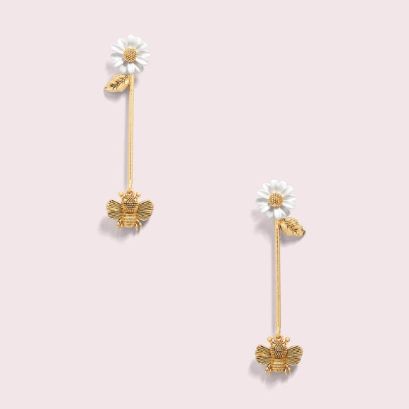 kate spade new york All Abuzz Bee Linear Earrings-Seven Season