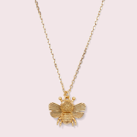 kate spade new york All Abuzz Bee Mini Pendant Necklace-Seven Season