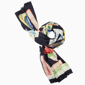 kate spade new york Bookshelf Oblong Scarf-Seven Season