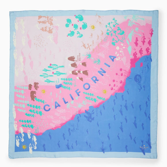kate spade new york California Map Square Scarf-Seven Season