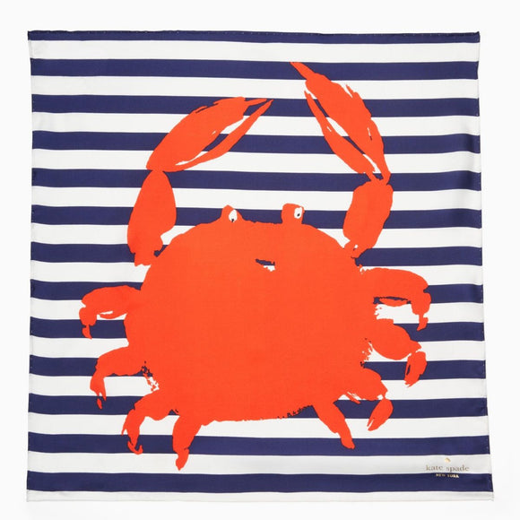 kate spade new york Crab Square Scarf-Seven Season