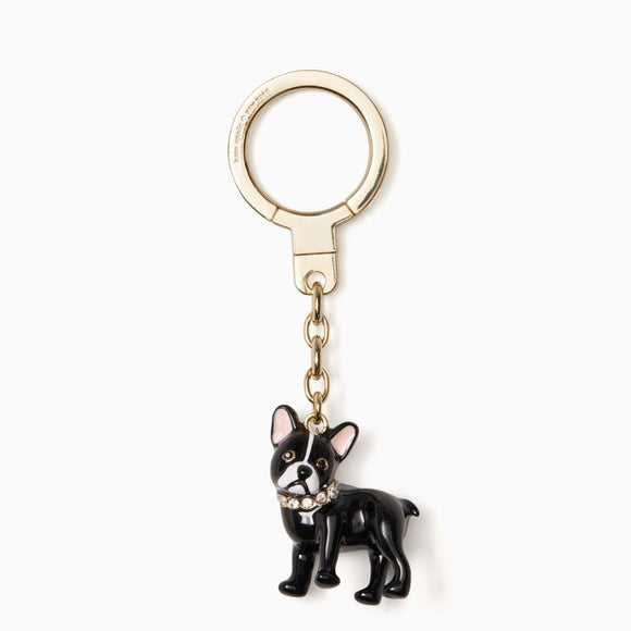 kate spade new york French Bulldog Jeweled Antoine Keychain-Seven Season