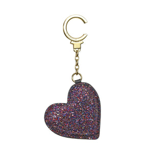 kate spade new york Glitter Heart Deeppink Keychain-Seven Season