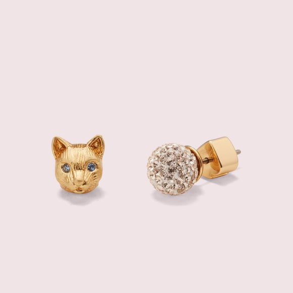 kate spade new york House Cat Pavé Studs-Seven Season