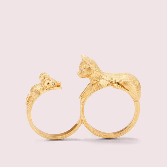 kate spade new york House Cat and Mouse Ring-Seven Season