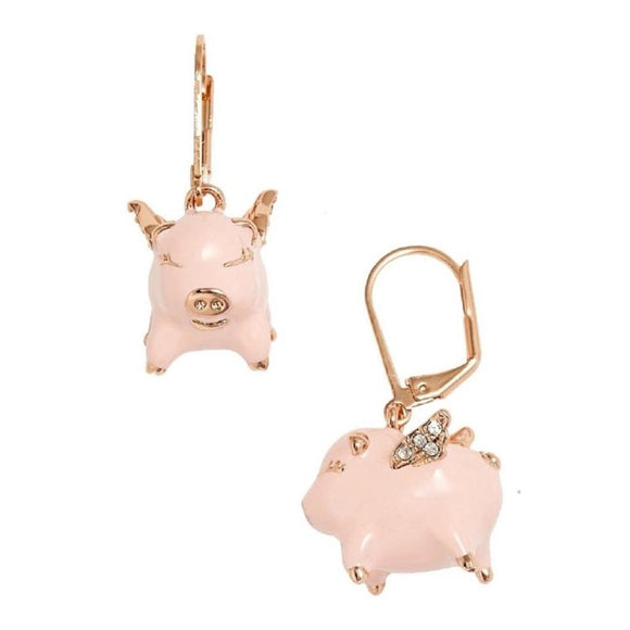 kate spade new york Imagination Flying Pig Drop Earrings-Seven Season