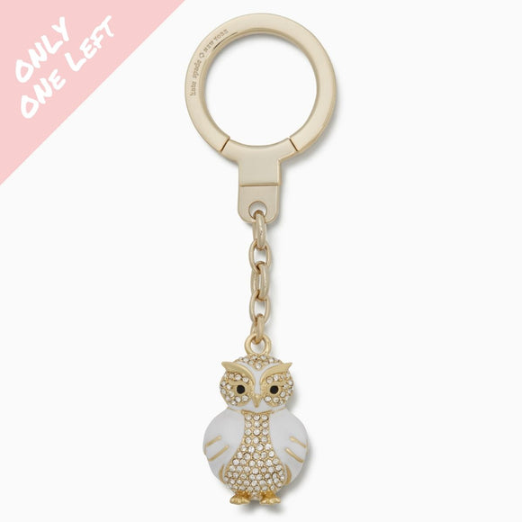 kate spade new york Jeweled Snow Owl Keychain-Seven Season