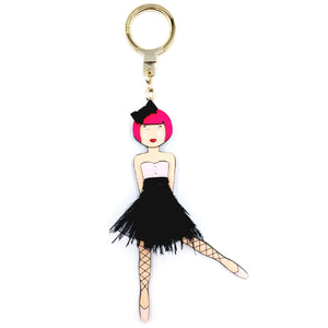 kate spade new york Leather On Pointe Ballerina Girl Keychain-Seven Season
