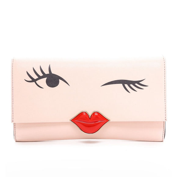 kate spade new york Love Birds Wink Lambskin Leather Clutch-Seven Season