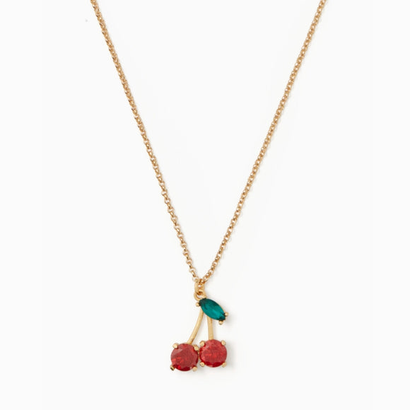 kate spade new york Ma Cherie Cherry Crystal Pendant Necklace-Seven Season