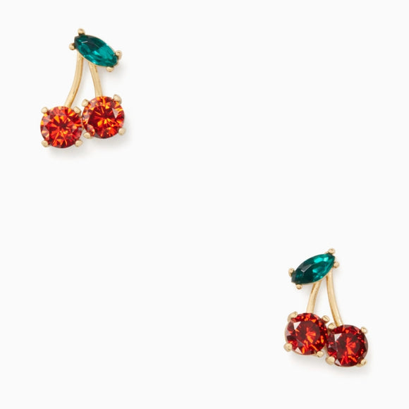 kate spade new york Ma Cherie Cherry Crystal Stud Earrings-Seven Season