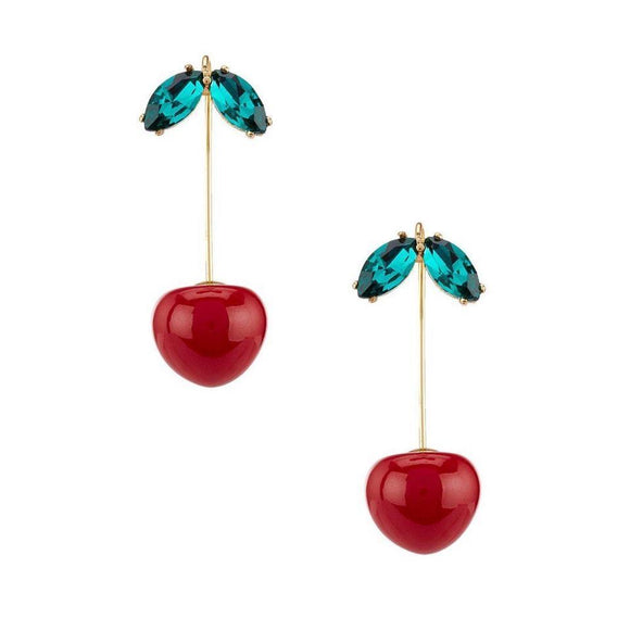 kate spade new york Ma Cherie Cherry Hanger Earrings-Seven Season
