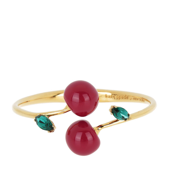kate spade new york Ma Cherie Cherry Open Hinged Cuff Bracelet-Seven Season
