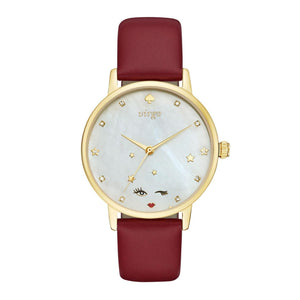 kate spade new york Metro Zodiac What's Your Sign Virgo Leather Watch-Seven Season