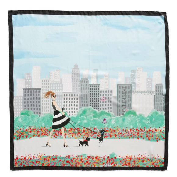 kate spade new york NYC Scene Square Scarf-Seven Season