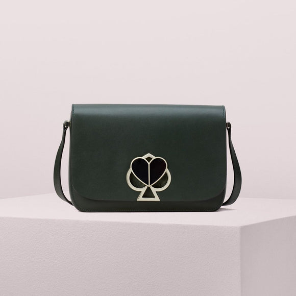 kate spade new york Nicola Twistlock Medium Deep Evergreen Shoulder Bag-Seven Season