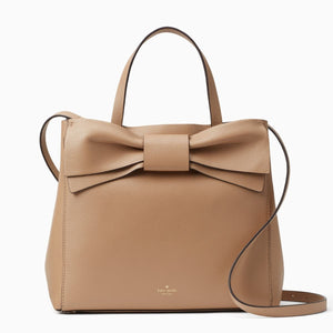 kate spade new york Olive Drive Brigette Bow Beige Satchel Bag-Seven Season
