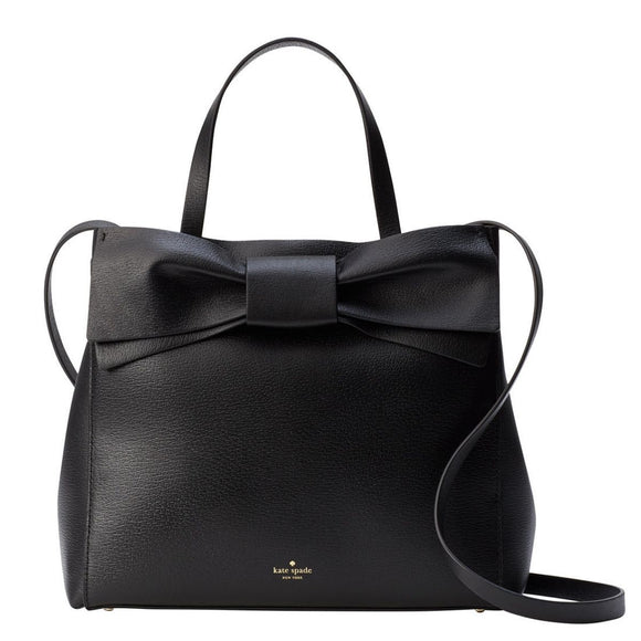 kate spade new york Olive Drive Brigette Bow Black Satchel Bag-Seven Season