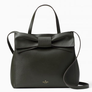kate spade new york Olive Drive Brigette Bow Loden Green Satchel Bag-Seven Season