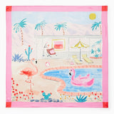 kate spade new york Palm Springs Pool Square Scarf-Seven Season