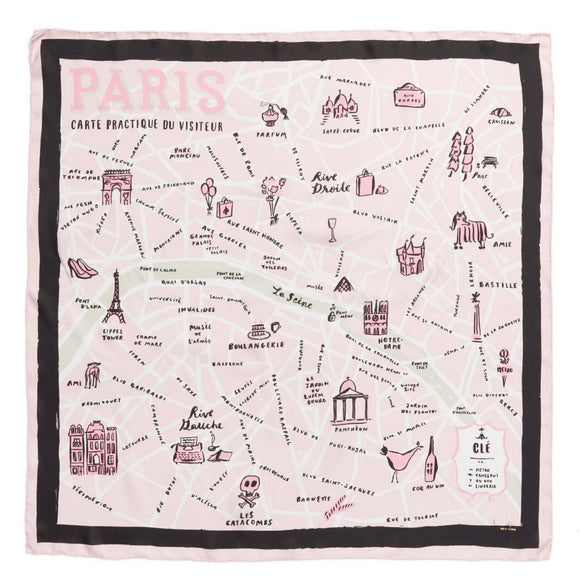 kate spade new york Paris Map Square Scarf-Seven Season