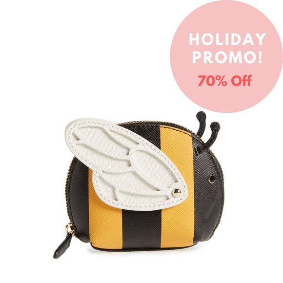 kate spade new york Picnic Perfect Bee Stripe Leather Coin Purse - Seven Season