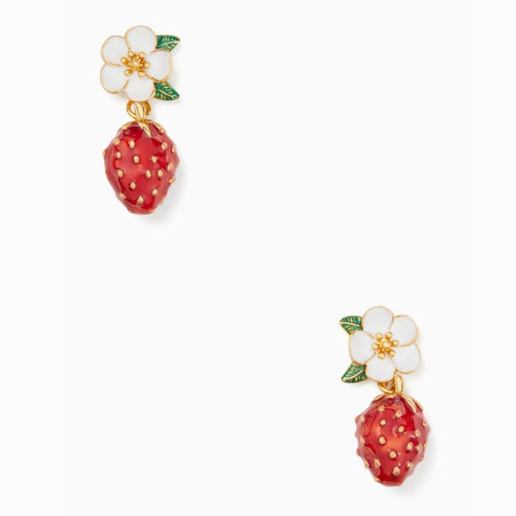 kate spade new york Picnic Perfect Strawberry Drop Earrings-Seven Season