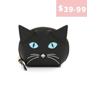 kate spade new york Cat's Meow Black Cat Coin Purse-Seven Season
